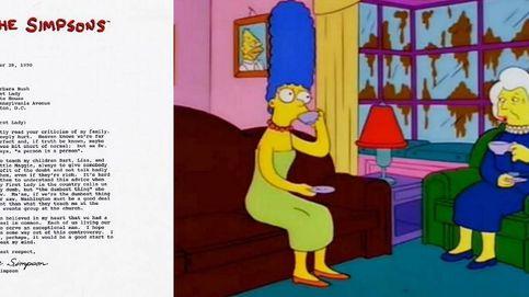 La carta de disculpa que Barbara Bush envió a Marge Simpson