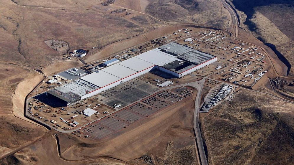 Foto: La Gigafactory de Tesla.