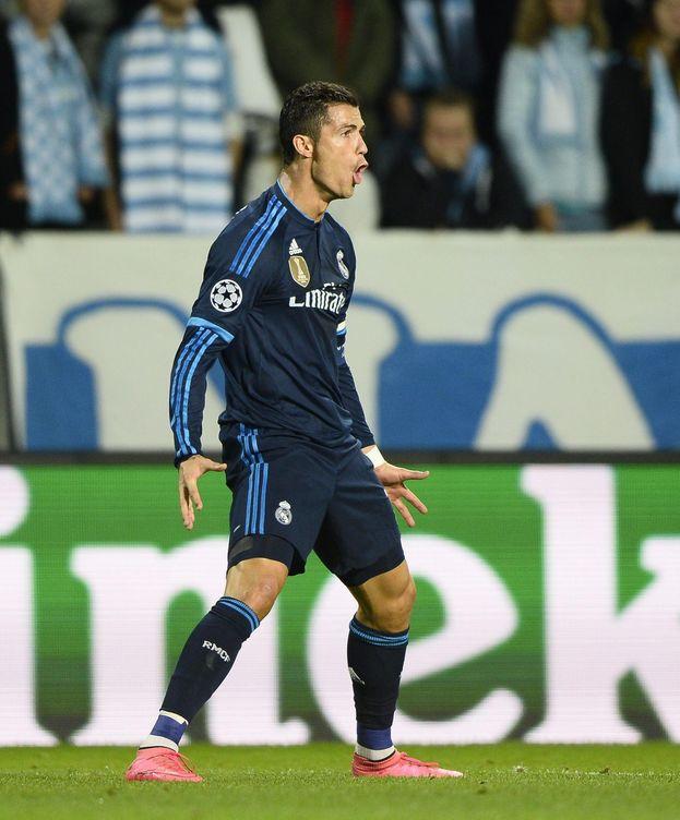 Foto: Cristiano celebra su primer gol al Malmoe (EFE)