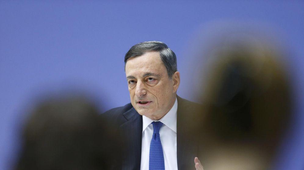 Foto: Mario Draghi, durante la rueda de prensa de este jueves en Fráncfort. (Reuters)