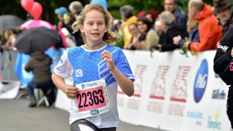 Irene Urdangarin, en la carrera en Ginebra que corrió con su padre y su tía. (D.R.)