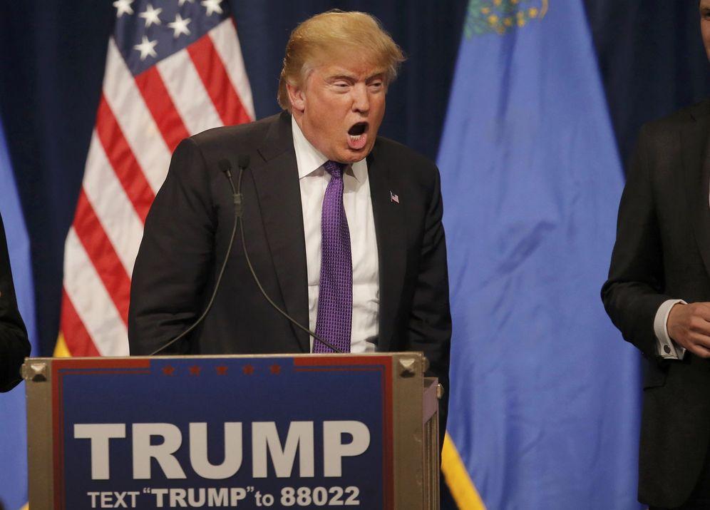 Foto: El candidato republicano Donald Trump se dirige a sus votantes tras la victoria en Nevada, el 23 de febrero de 2016 (Reuters).