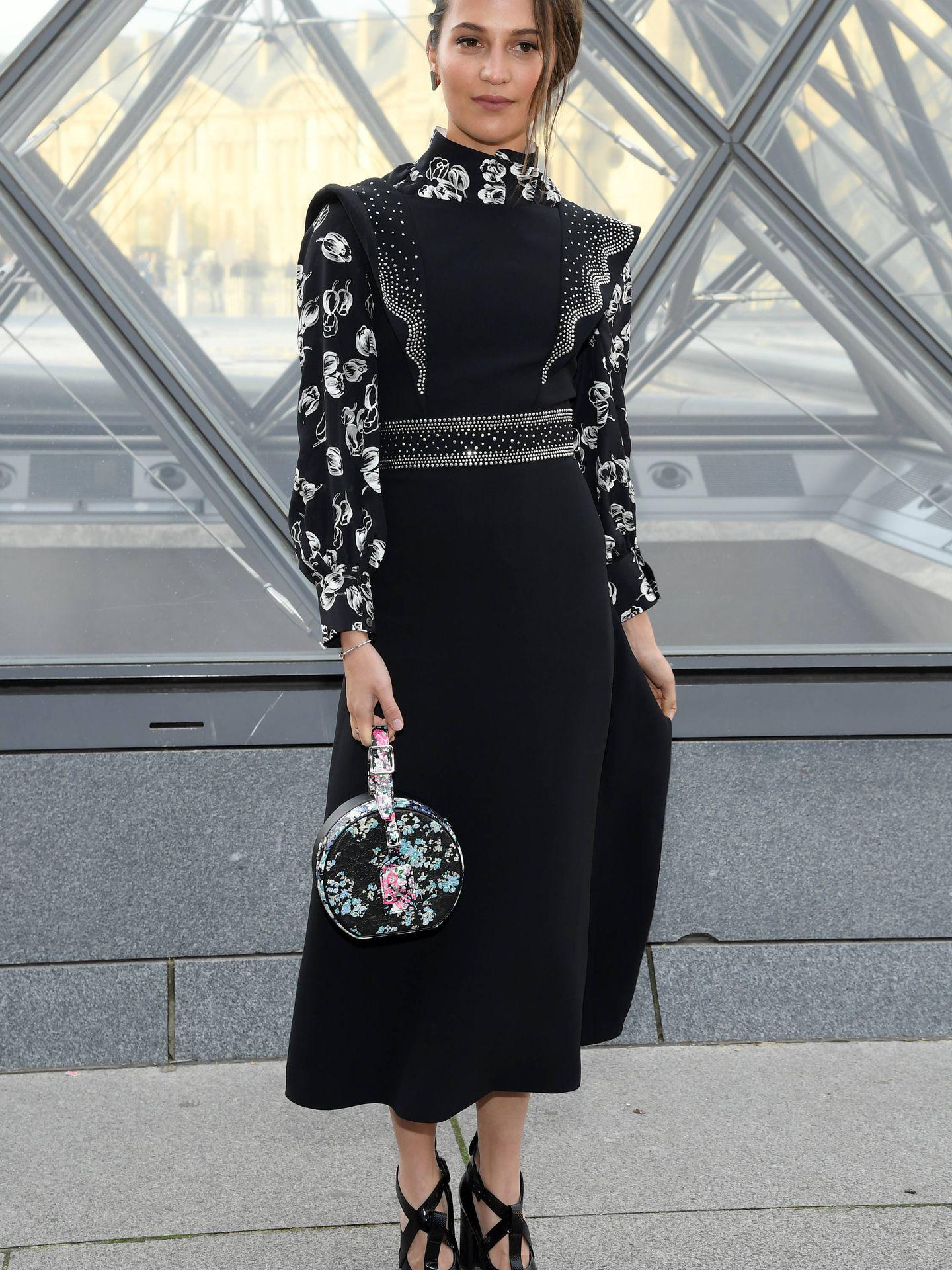 Alicia Vikander de Louis Vuitton. (Getty)