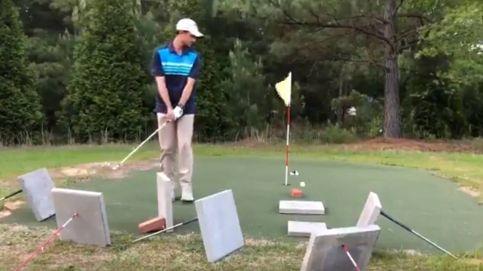 La carambola de un golfista que te dejará con la boca abierta