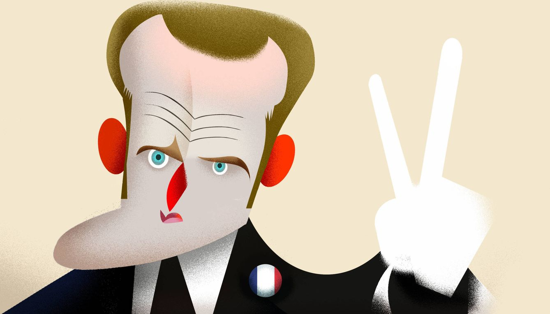 Foto: Emmanuel Macron. (Ilustración: Raúl Arias)
