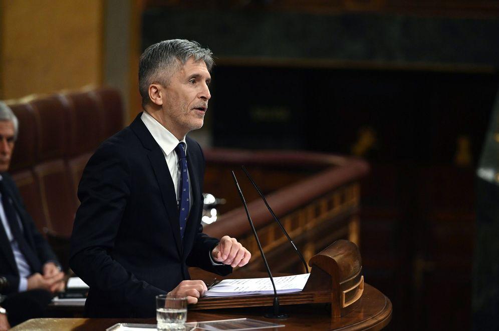 Foto: Fernando Grande-Marlaska, ministro del Interior, este 19 de febrero en el Congreso. (EFE)