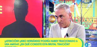 Post de 'Sálvame' usa a Kiko Hernández a la hora de 'Tierra amarga' para airear su