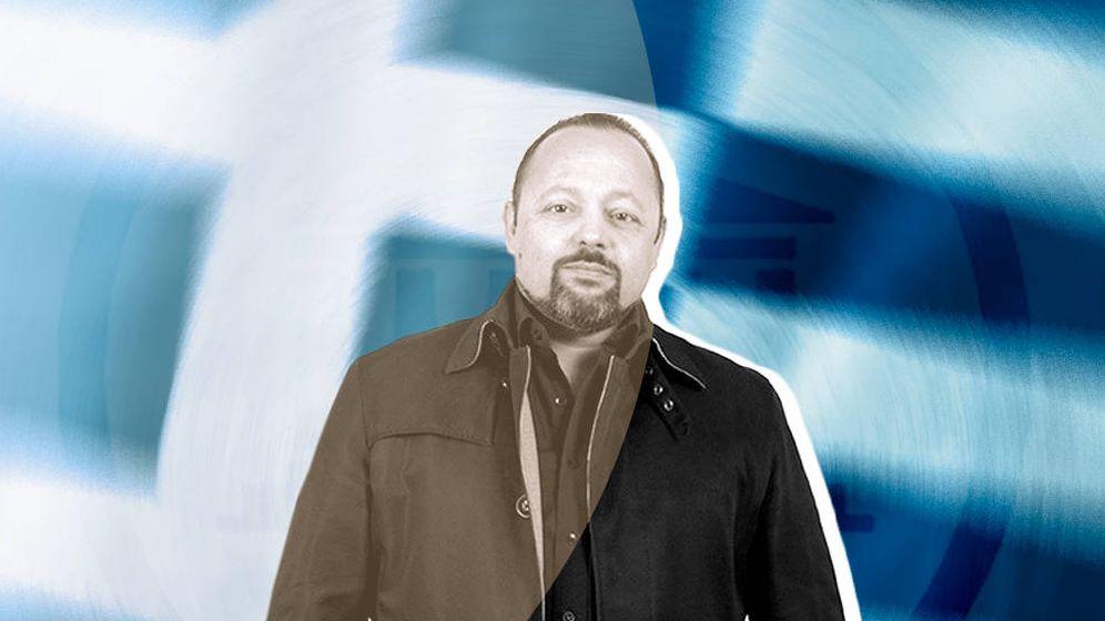 Foto: Artemis Sorras, fundador del movimiento Asamblea de griegos. (El Confidencial)