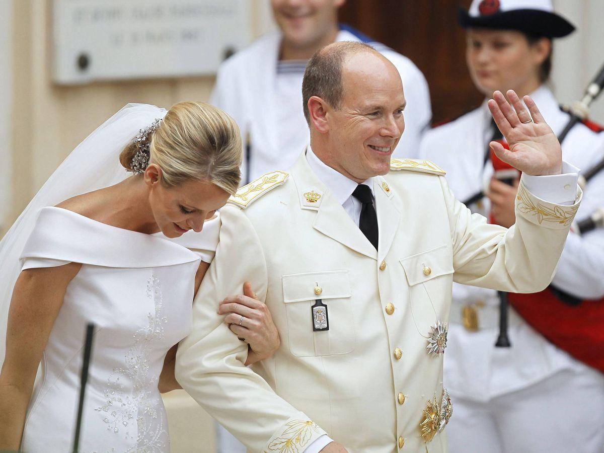 Foto: El príncipe Alberto y Charlène Wittstock. (EFE)