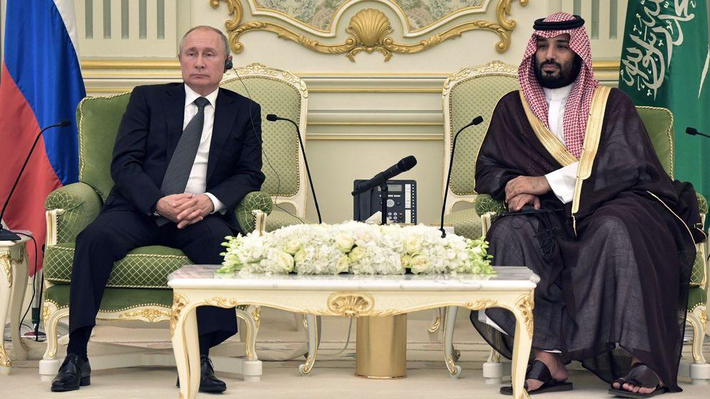 Foto: Reunión de Putin y Mohammed bin Salman en Riad