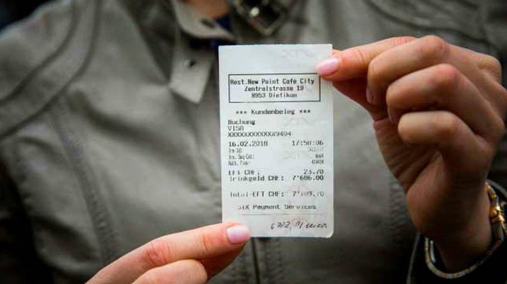 Foto: El ticket de la transacción. (InfoGlitz)