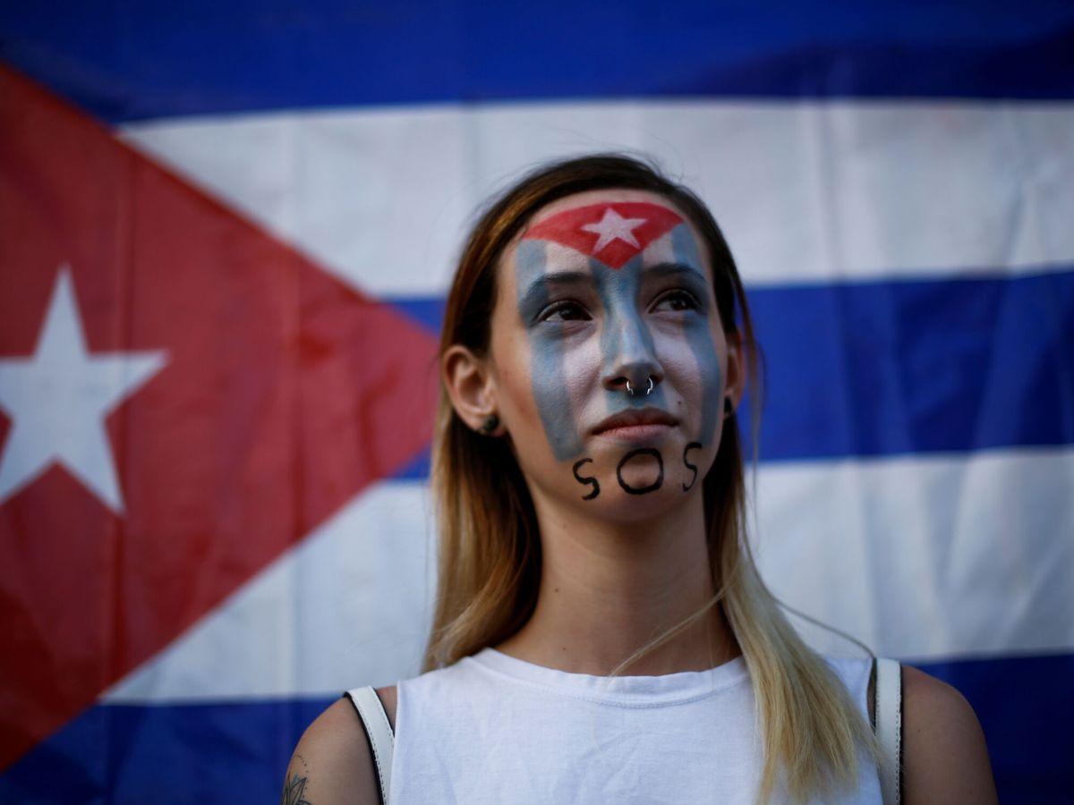 Foto: Protestas contra el Gobierno cubano. (Reuters)