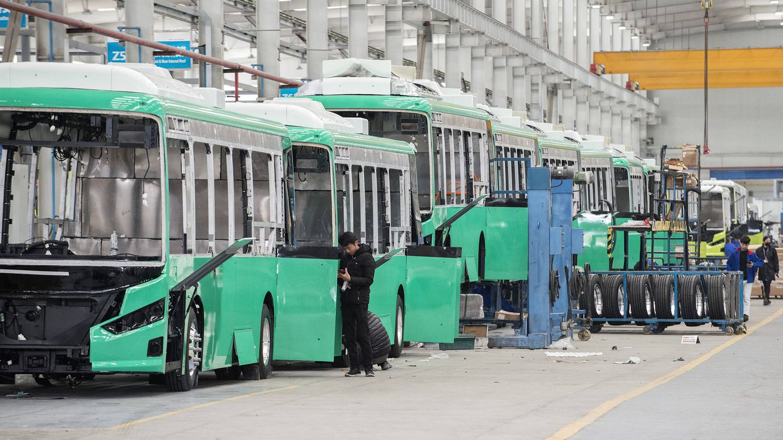 La principal fábrica de autobuses eléctricos de BYD, la empresa que más produce en todo el mundo. (Z. Aldama)