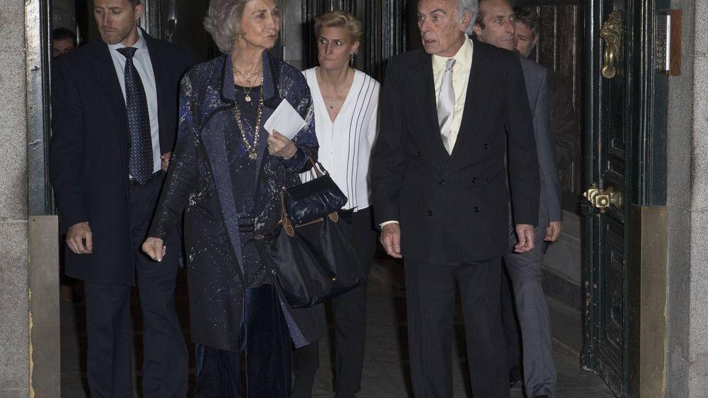 Foto: La reina Sofía asiste al 80 cumpleaños de la infanta Margarita. (J. Martín para Vanitatis)