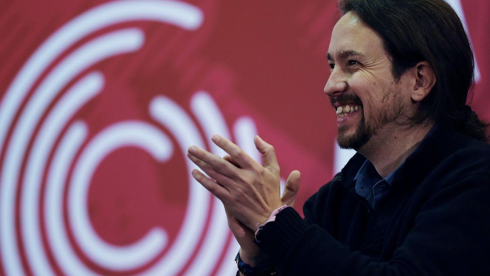 Foto: El secretario general de Podemos, Pablo Iglesias, durante la presentación del programa electoral de Catalunya en Comú-Podem. (EFE)