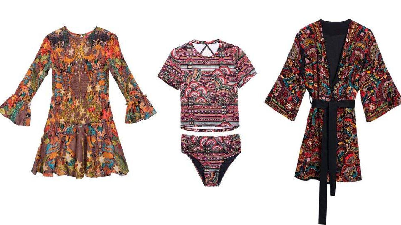 Tres de las 67 prendas que componen la colección de Chufy. (Cortesía)