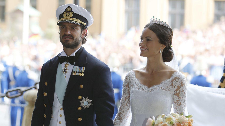 Foto: Carlos Felipe y Sofía, el día de su enlace matrimonial (Gtres)