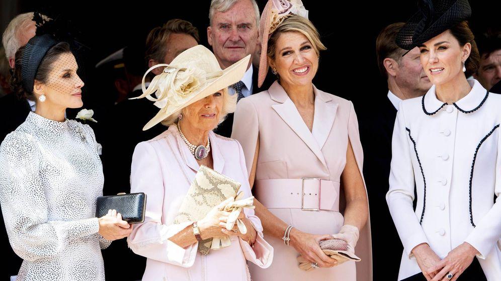 Foto: La reina Letizia durante el Día de la Jarretera. (CP)