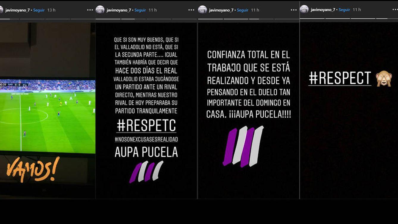 El cabreo en las redes sociales del capitán del Valladolid tras la goleada en Barcelona
