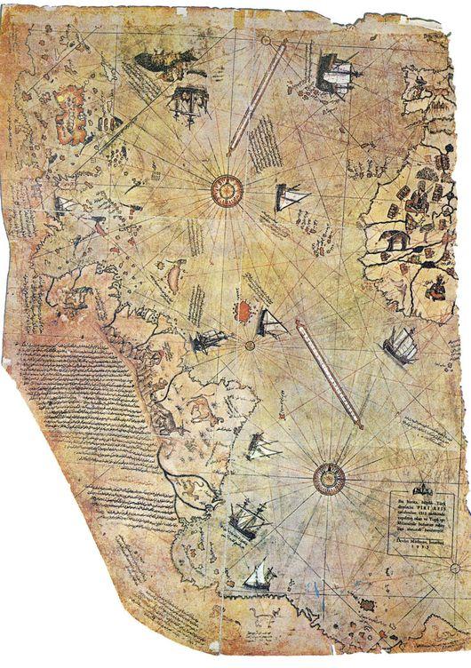 Foto: Mapa de Piri Reis. (Museo Topkapi)