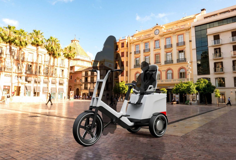 Con el accesorio modular oportuno y una silla de seguridad, el Dynamic Cargo permite transportar un niño y seguir llevando bastante carga