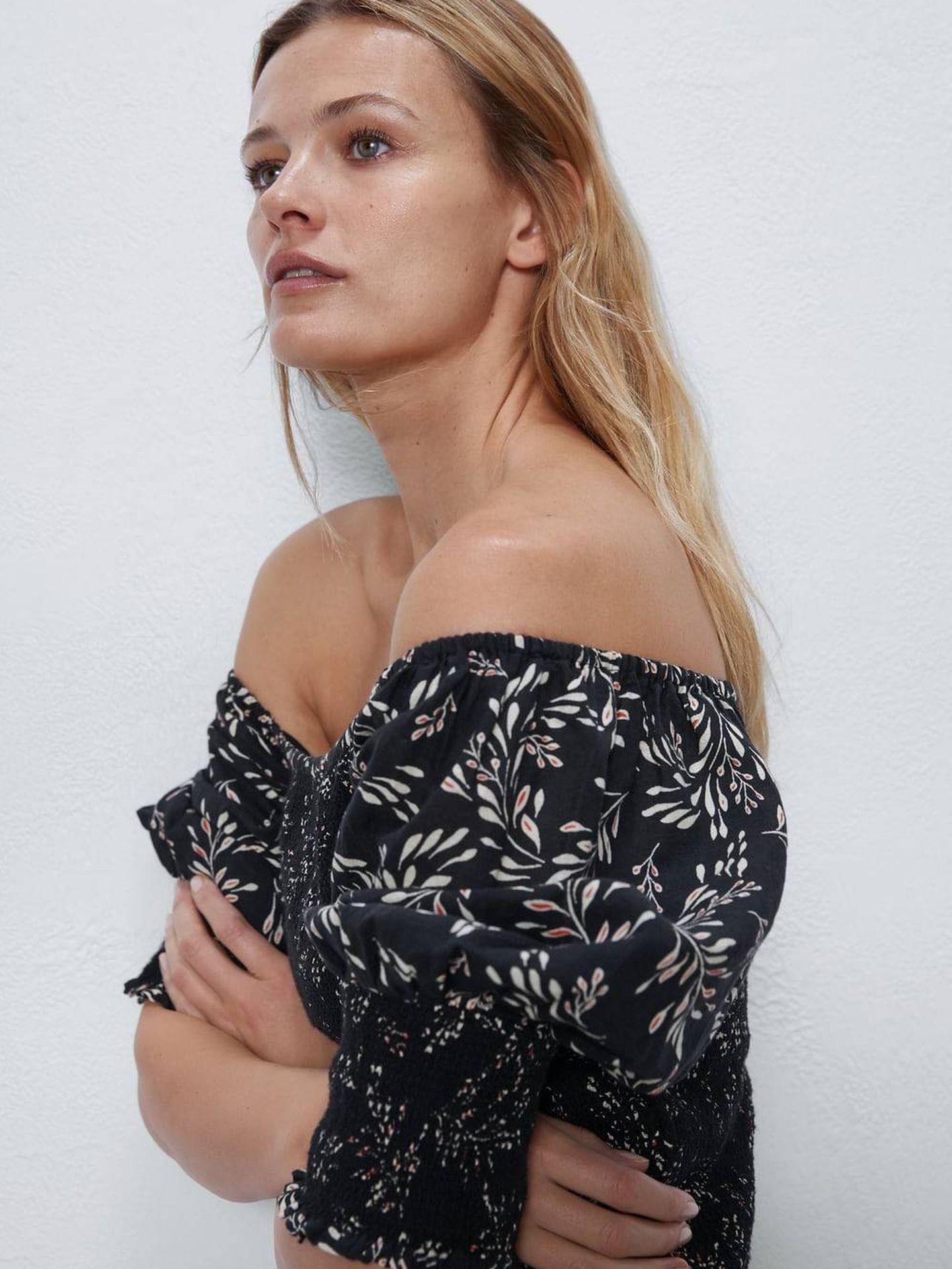 El vestido de Zara de cerca. (Cortesía)