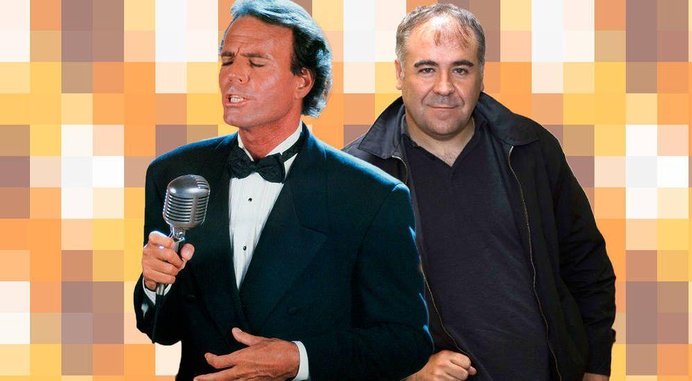 Foto: Julio Iglesias con Ferreras (montaje: Carmen Castellón)