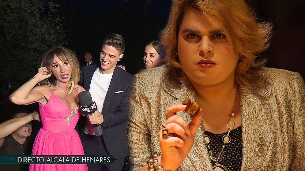 Foto: María Patiño, en 'Sábado Deluxe'. (Telecinco) / Paquita Salas (Netflix)