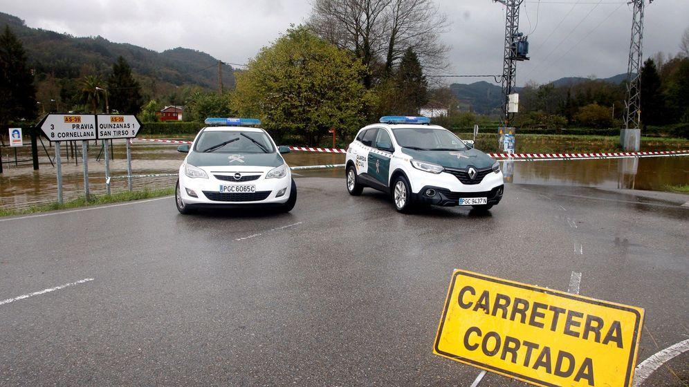 Foto: Foto de carretera cortada en Asturias. (EFE)