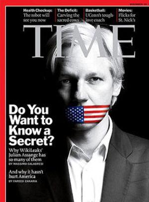 Los lectores presionan a la revista 'Time' para nombrar a Assange hombre del año