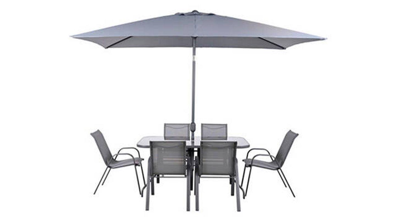 Conjunto de muebles de exterior Ondara de acero