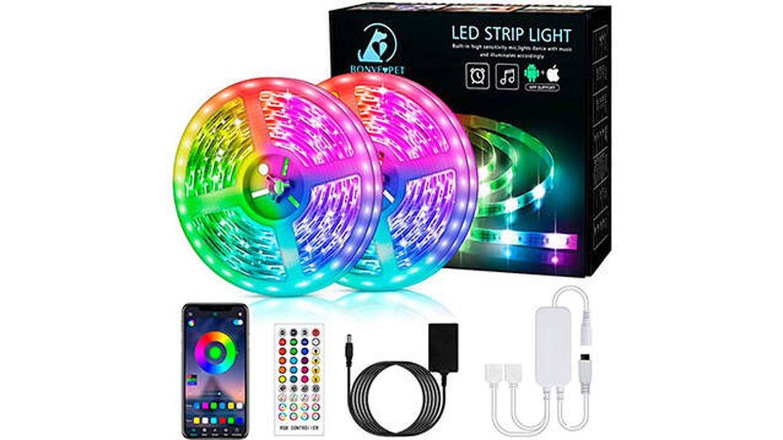Tira luces LED RGB de 12 metros de Bonve Pet