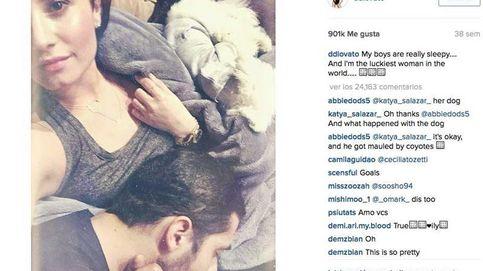 La somnolienta guerra de Demi Lovato y su novio en Instagram