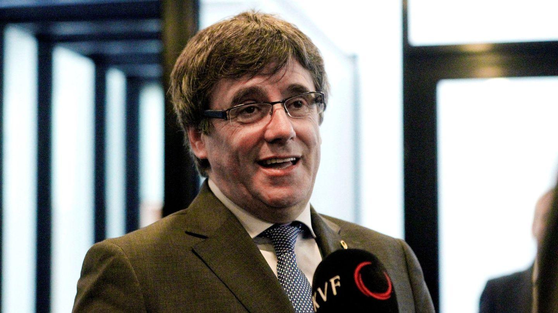 Puigdemont durante una entrevista en su viaje a las islas Feroe. (EFE)