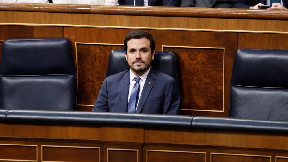 Foto: El ministro de Consumo, Alberto Garzón, en el Congreso. (EFE)