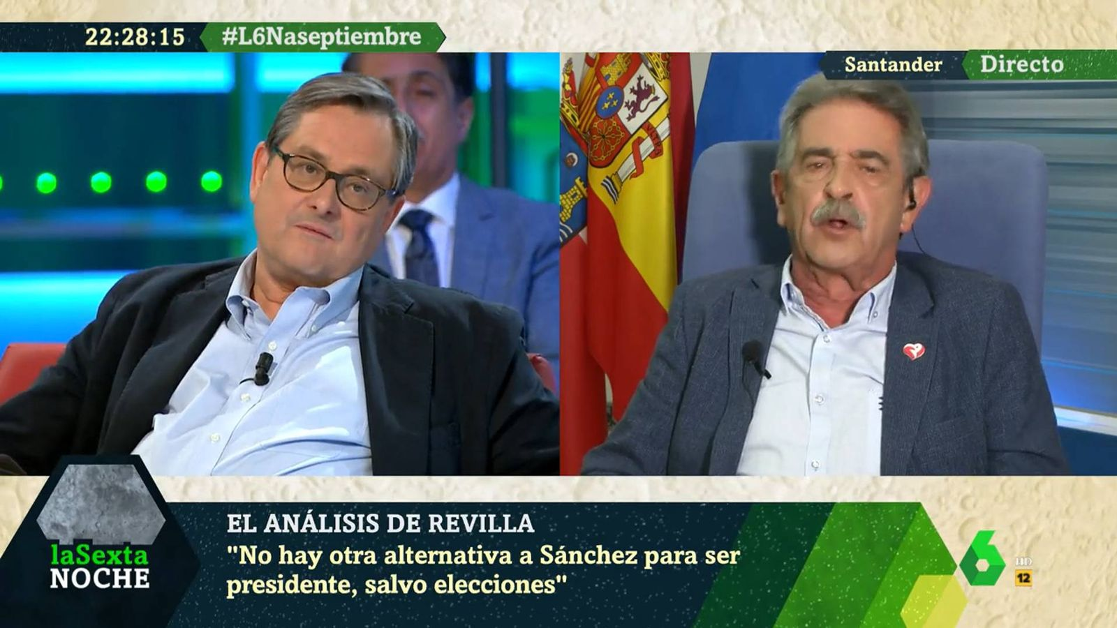 Foto: Paco Marhuenda y Miguel Ángel Revilla, en 'La Sexta Noche'. (La Sexta)