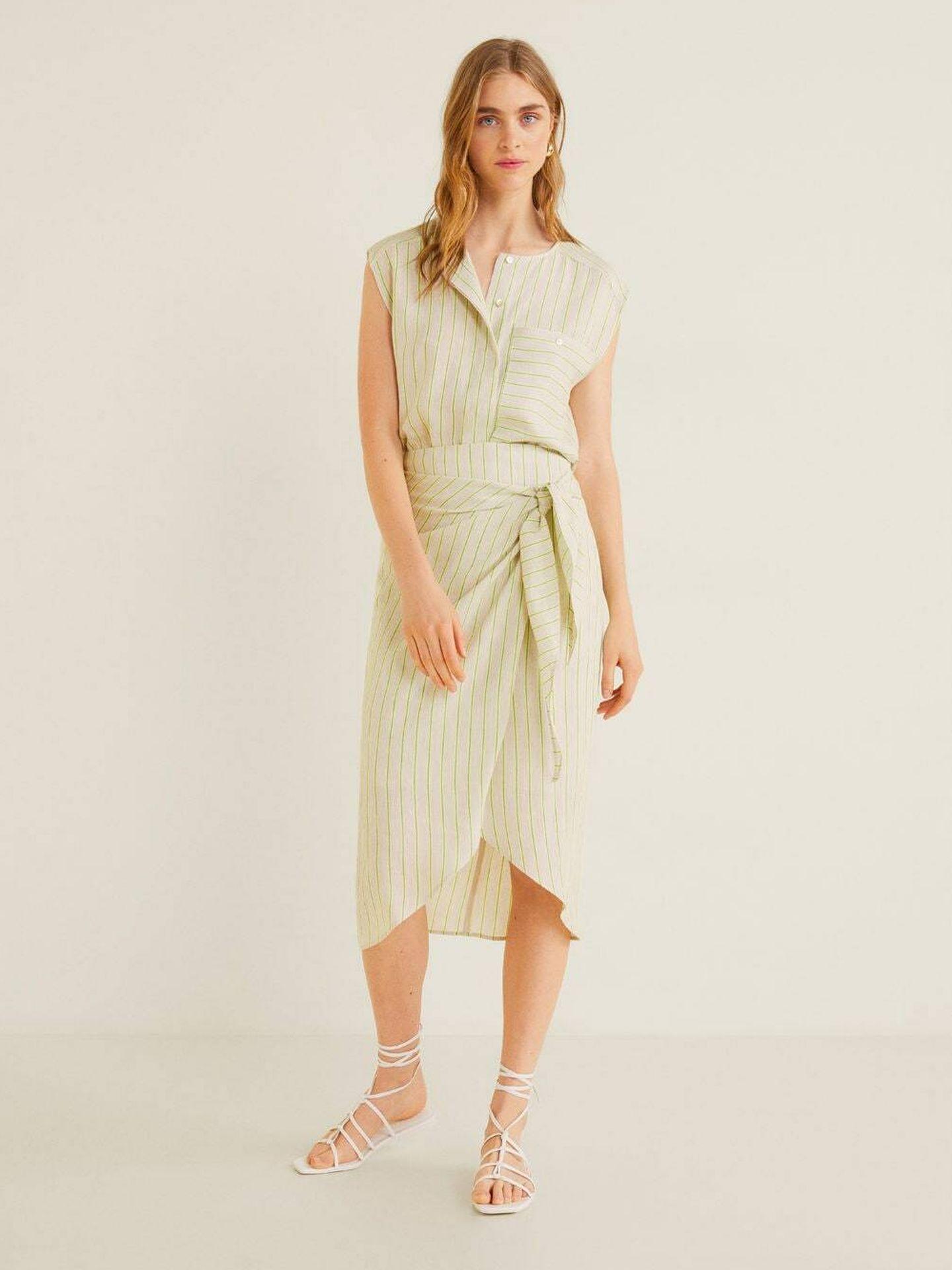 Una falda de Mango Outlet. (Cortesía)