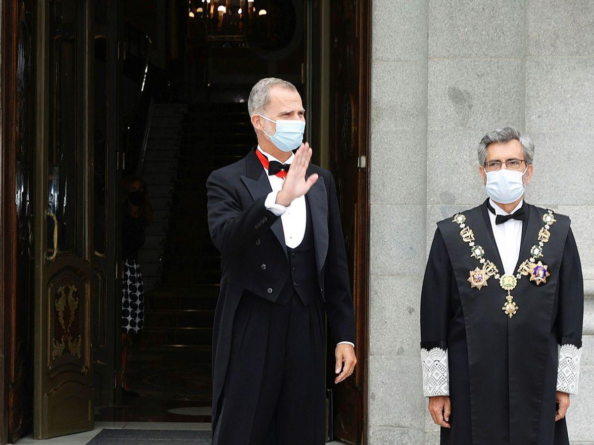 Foto: El Rey y Carlos Lesmes en la apertura del año judicial. (EFE)