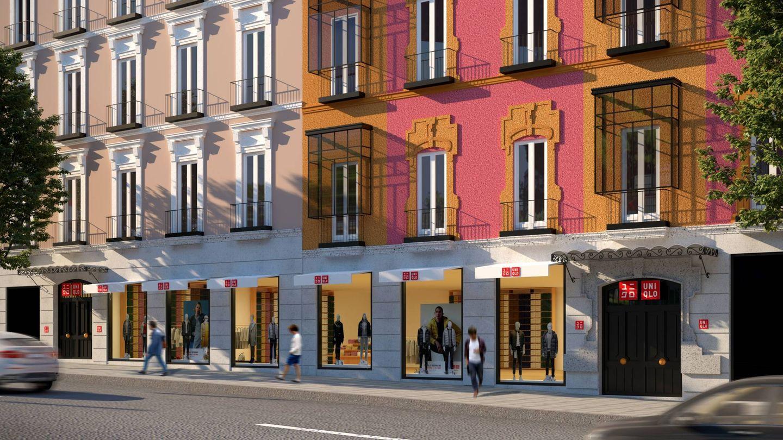 Diseño de la nueva tienda de Uniqlo U en Madrid. (Cortesía)