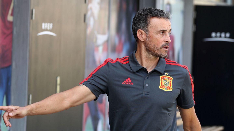 Luis Enrique, en la Ciudad del Fútbol de Las Rozas. (EFE)
