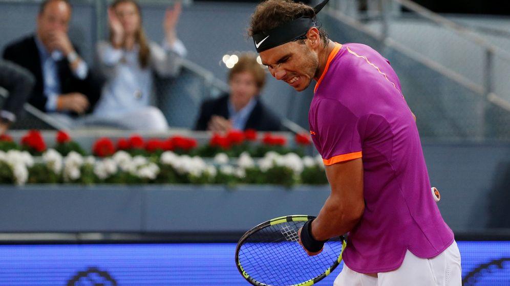 Foto: Nadal celebra su victoria en cuartos de final. (Reuters)