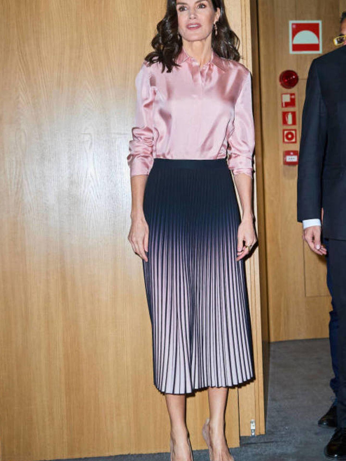 La Reina, con la falda en marzo. (LP)