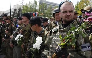 En el frente de Donétsk