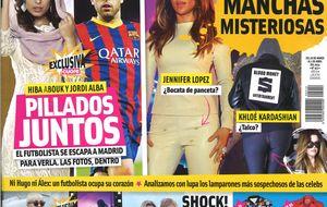 Hiba Abouk y Jordi Alba, pillados juntos por Madrid