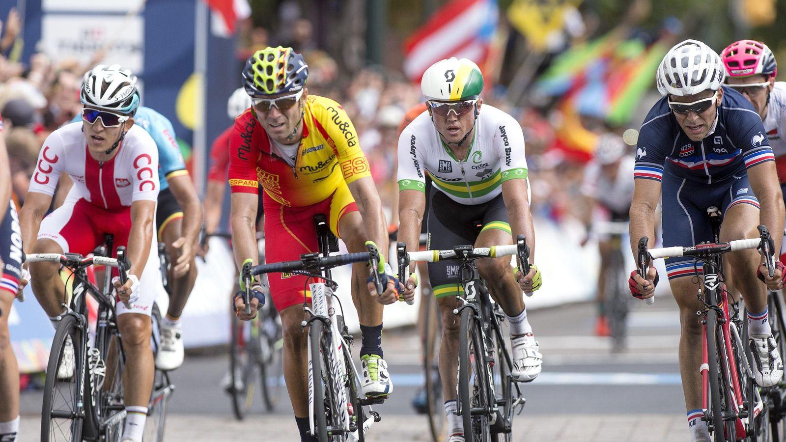 Foto: Valverde, en el campeonato del mundo (EFE)