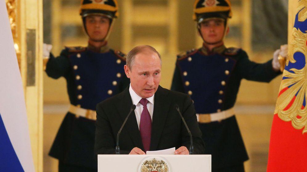 Foto: Vladimir Putin en la recepción del equipo olímpico ruso (Reuters)
