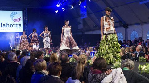 Verduras riojanas forman trajes de Christian Dior