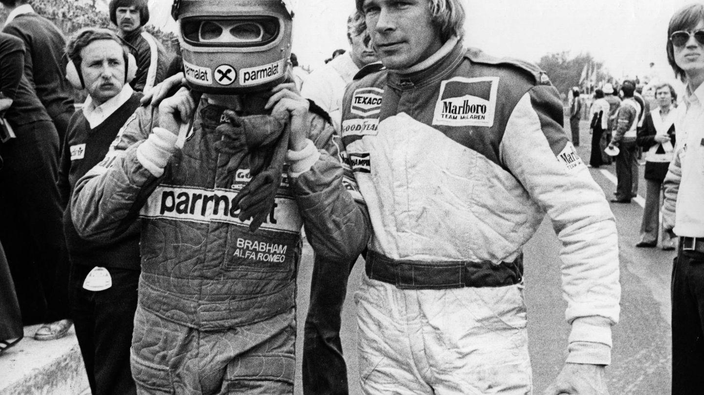 Niki Lauda y James Hunt, una mítica rivalidad. (Getty)