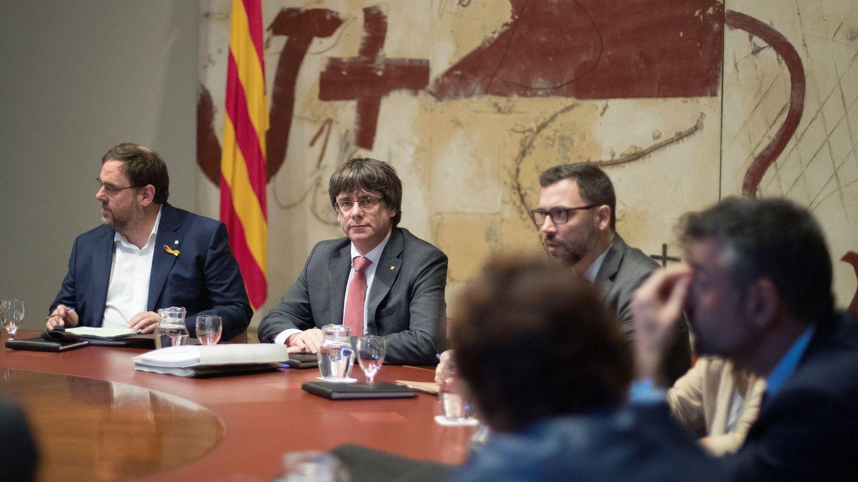 Puigdemont y Junqueras (EFE)
