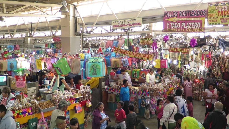 Un mercado en México. (J.B.)